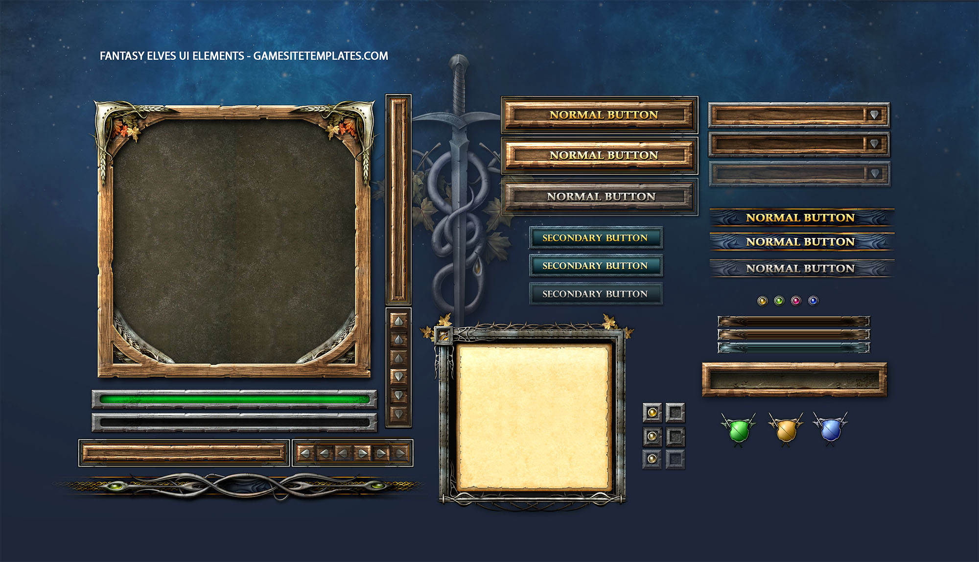 Fantasy game gui game ui design freelancer antonw mobile game ui design templates maxwellsz