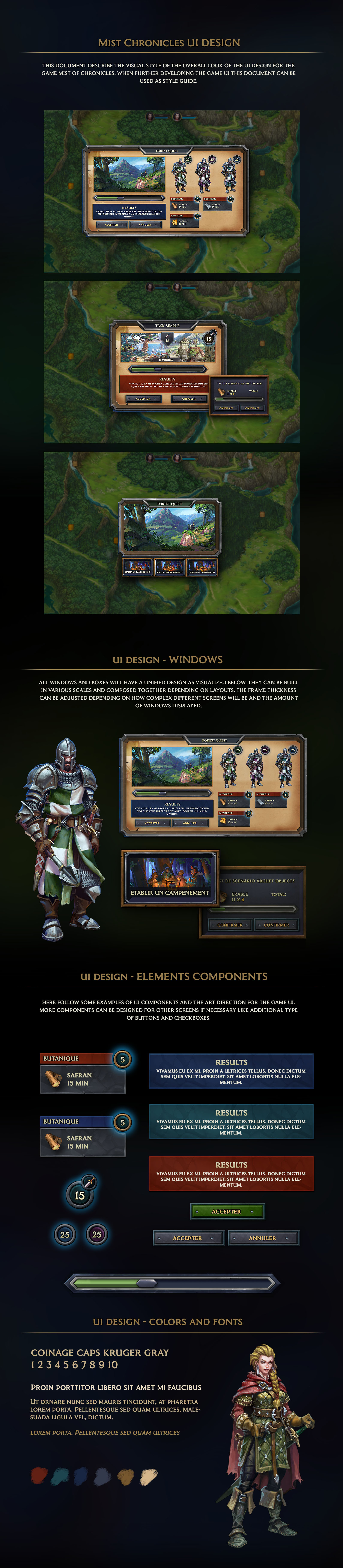 Mist of Chronicles UI Art Direction